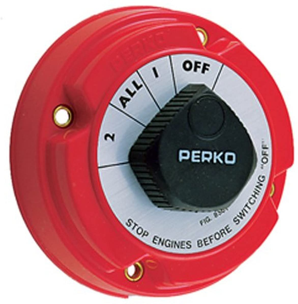 Rare Perko sold out 8501DP Medium Duty Battery Switch Small Selector Red