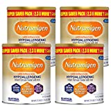 Enfamil Nutramigen Hypoallergenic Colic Baby Formula Lactose Free Milk Powder, 27.8 Ounce - Omega 3 DHA, LGG Probiotics, Iron, Immune Support, Pack of 4 (Package May Vary)