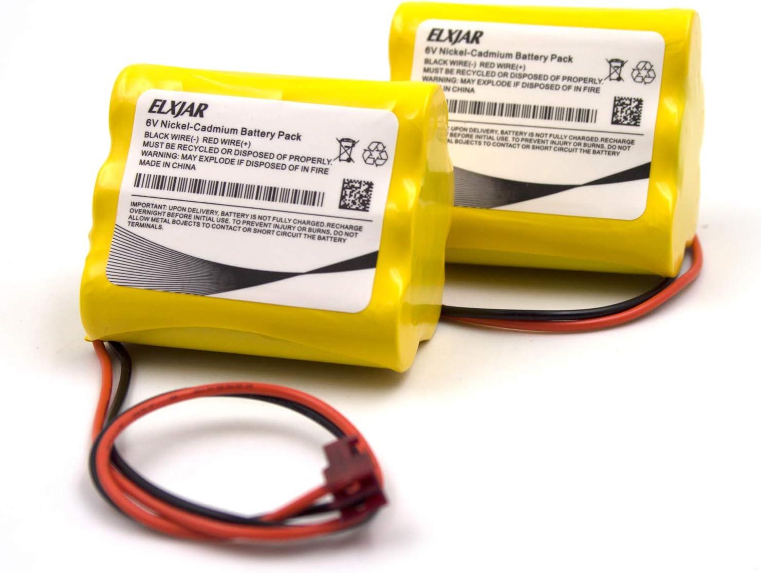 (2-Pack) 6V AA Ni-CD Battery Pack Replacement for Sure-Lite 026-149, SL026-149, S/L 026-149, ANIC1204, Energizer 41B020AF17201, Dantona CUSTOM-55 Emergency Lighting : Health & Household