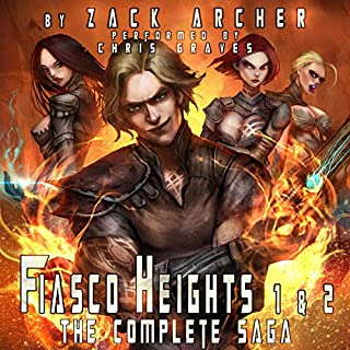 Fiasco Heights: The Complete Saga     A Superhero Harem Adventure, Books 1 and 2              By:                                                                                                                                 Zack Archer                               Narrated by:                                                                                                                                 Chris Graves                      Length: 13 hrs and 22 mins     82 ratings     Overall 3.9