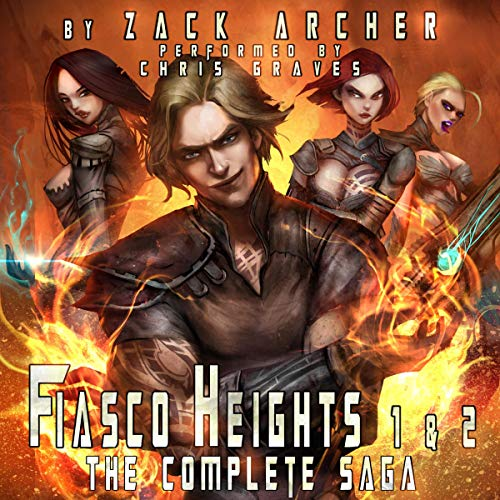 Fiasco Heights: The Complete Saga     A Superhero Harem Adventure, Books 1 and 2              By:                                                                                                                                 Zack Archer                               Narrated by:                                                                                                                                 Chris Graves                      Length: 13 hrs and 22 mins     130 ratings     Overall 3.9