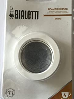 Bialetti - Brikka 4 Cup 3 silicone Gaskets, Filter Plate Blister