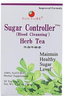 Health King Sugar Controller Herb Tea, Teabags, 20 Count Box