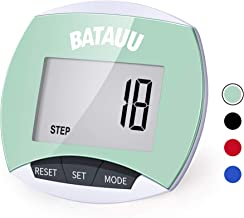 BATAUU Best Pedometer, Simply Operation Walking Running Pedometer with Calories Burned and Steps Counting
