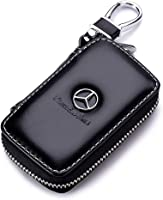red YANGYI Genuine Leather Key Chain Suit for Benz Family Present for Man and Woman Suit for Mercedes-Benz A C E S Class Series,GLK CLA GLA GLC GLE CLS SLK AMG Series Keychain Keyring