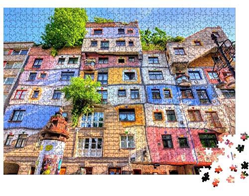 guyuell 1000 Teile Spiele Puzzle Hundertwasserhaus In Wien 75X50Cm Erwachsene Kinder Lernspielzeug Puzzle Weihnachtsdekoration Geschenk Classic Puzzle