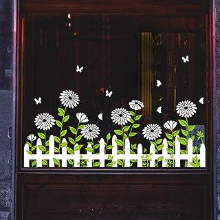 Stickers Muraux Bricolage Blanc Marguerite Baseboard Autocollant Porte En Verre Fenêtre Autocollant Décoration Autocollant...