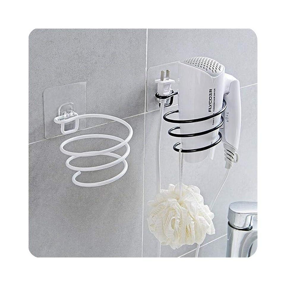 青写真労苦オフGuomao 浴室キッチン強いフック無料パンチペーストヘアドライヤー浴室の壁の棚壁の台紙 (色 : ブラック)