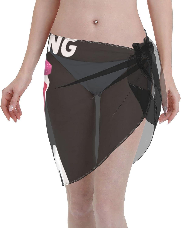 Reading is My Jam Women Short Sarongs Beach Wrap Swimsuit Cover Ups for Women Black