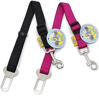BPS(R 2X Cinturón de Seguridad de Coche,Ajustable para Perro,Color:Azul Oscuro,Azul Claro,Verde y Rojo,Safety Belt para Cachorro Gato Gata Mascotas Animales,Tamaño:(2.0 x 40/58cm). BPS-2675 * 2