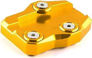 Accesorios de la motocicleta Pedal de la motocicleta del asiento por escaleras de aleación de aluminio de la motocicleta del soporte del cojín del pie antideslizante Asiento ampliada, ( Color : Gold )