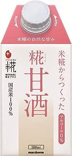 マルコメ プラス糀 米糀からつくった糀甘酒LL 【国産米100%使用】 500ml×12本