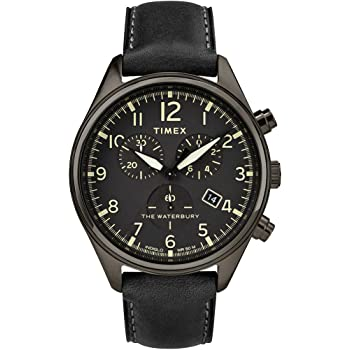 Timex Waterbury TW2R88400 Men's Traditional Leather Strap 42mm Chronograph Watch