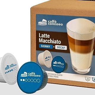 Caffè Colosseo - Latte Macchiato Light & Décaféiné - 60 Capsules Compatibles Dolce Gusto (60 Capsules, 30 Portions) | Au L...