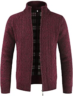 Kemilove Merino Wool Hooded Zip-Up Irish Sweater Coat