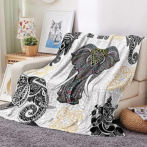 HKDGHTHJ Mantas para Sofa Baratas 200 X 200 cm Creatividad Geometría Elefante...