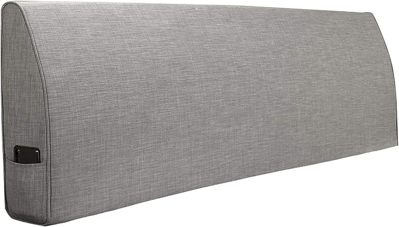 Coussins De Lecture Moderne Simple Chambre gris Non-Chevet Oreillers pour La Lecture Lit Coussin Dossier Soft Case Antifouling (150  50  12CM,gris)