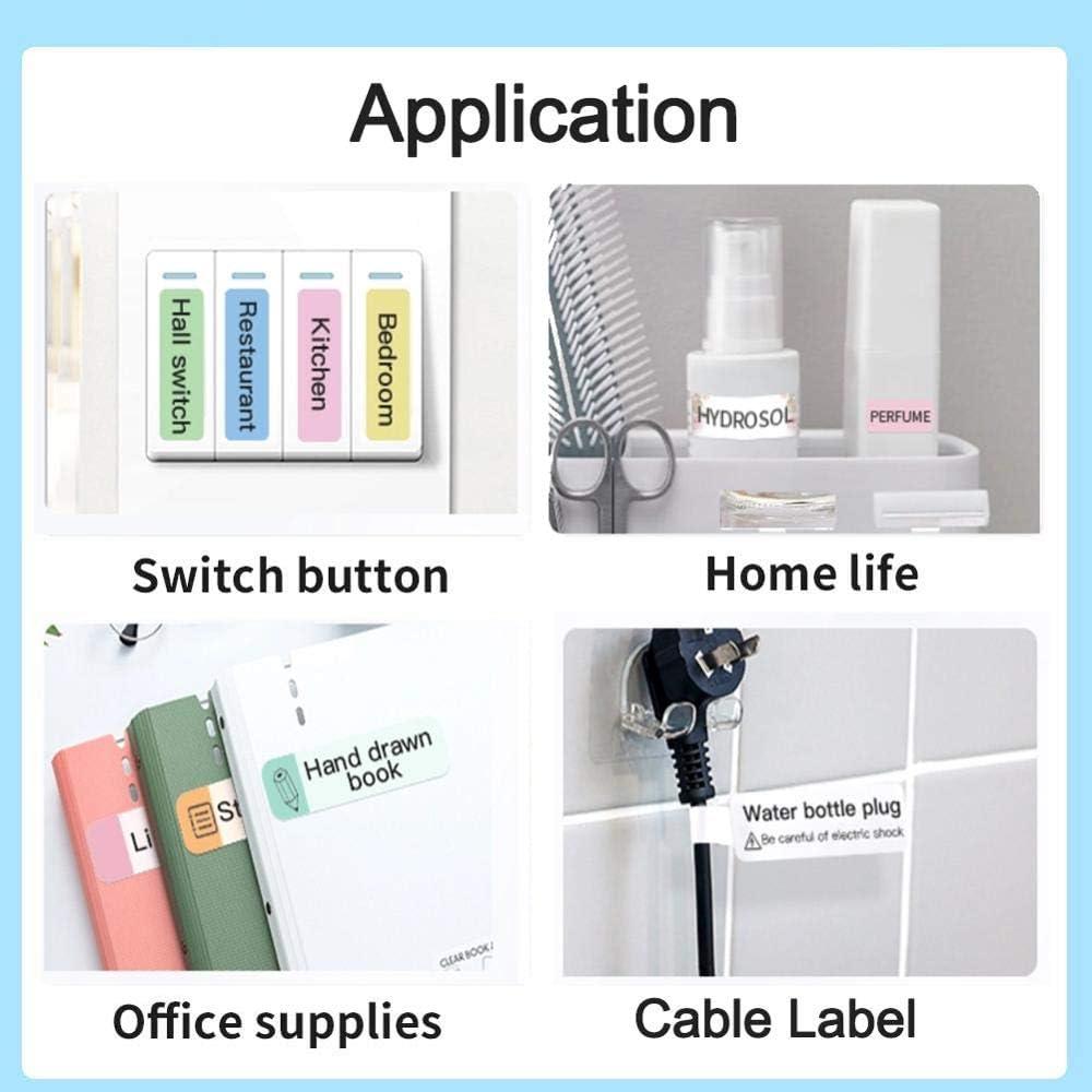 Niimbot D11 Wireless Mini Printer Portable Pocket Impresoras Bluetooth Thermal Label Printer with 12-15mm Label Width (Printer+40x12mm 3rolls Pattern Color)
