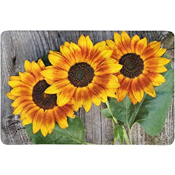 Sunflowers Indoor or Outdoor Mat Carolines Treasures 8766JMAT 24 x 36 In