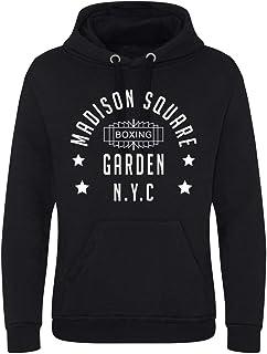 Madison Square Garden Boxing NYC Superior Premium Men's Heavy Black Hoodie/Hoody/Hooded Top