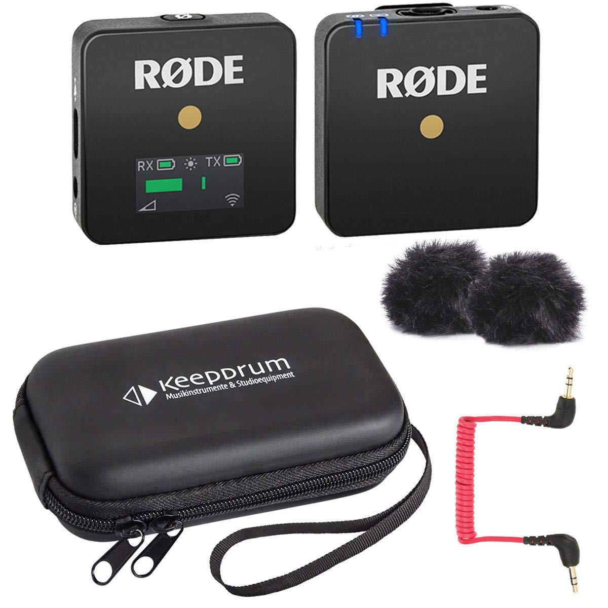 Rode WIGO Wireless GO - Sistema inalámbrico de micrófono y funda ...