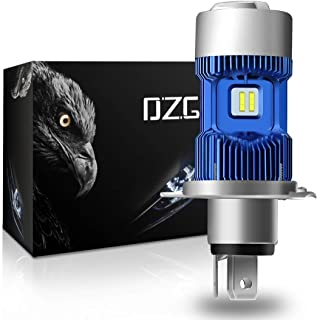 DZG H4 Motorcycle LED Headlight Bulb 9003 HB2 HS1 P43t 6500K CREE Chips High Low Beam Light Conversion Kit 2 Yr Warranty, 1 Pack