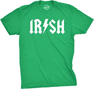 Irish Rockstar Funny Saint Patricks Day Shamrock St Clover Shenanigans T Shirt
