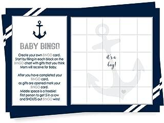 baby shower bingo nautical