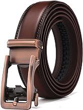 Men's Leather Ratchet Dress Belt - XDeer Adjustable Slide Belts for Men with Automatic Buckle …