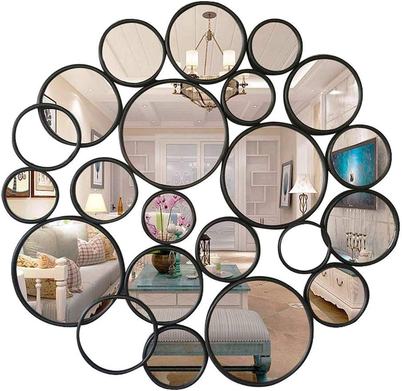 ZSPPPP Bathroom Mirror Living Room Decorative Mirror Corridor Mirror Background Wall Round Wall Hanging Mirror 71  71cm