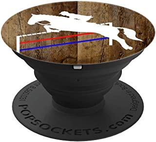 Jumping Horse & Rider Silhouette on Brown Background PopSockets Grip and Stand for Phones and Tablets