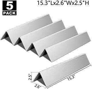 """Flavorizer Bars 15.3"""" Replacement for Weber Spirit E310 Grill Parts, Spirit 310 Parts, Spirit 300 Series S-310, E/S-320, E/S-330 with Front-Controls, 5-Pcs Flavor Bars(L15.3 x W2.6 x T2.5inch)"""