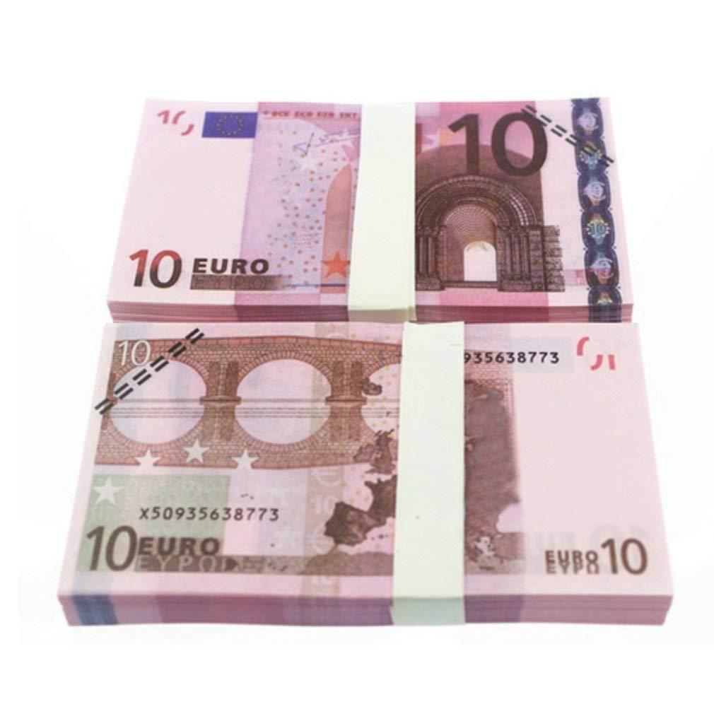 5 10 20 50 100 200 500 EUR Billetes de Oro en Papel Moneda Falso de Oro de 24K para colección Conjuntos de Billetes de Euro ((Colorido 10 Euro) 10pcs): Amazon.es: Oficina y papelería