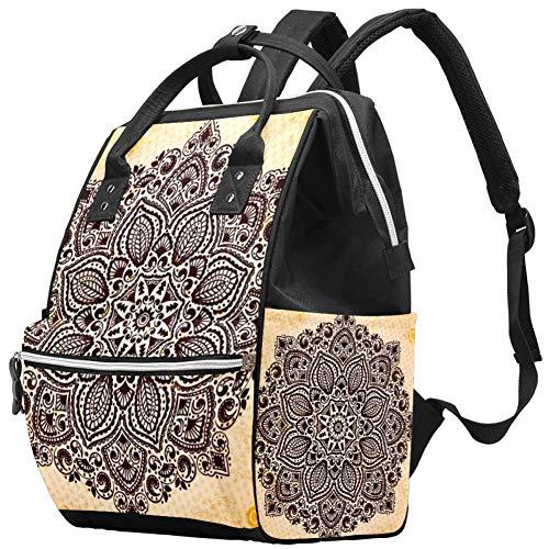 TIZORAX Mandala behang grote capaciteit luier rugzak Baby luier tas rugzak Reistas voor moeders vaders