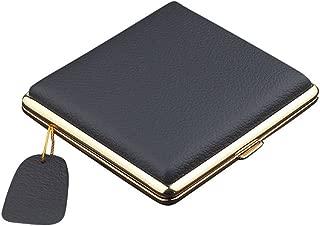 NACHEN Leather Cigarette Cases Holder Box Holds 20 Cigarettes,Black2,98X93x23mm
