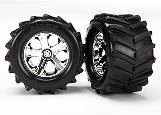 Traxxas Maxx Tires, 2.8 All-Star Chrome Wheels: ST 4x4