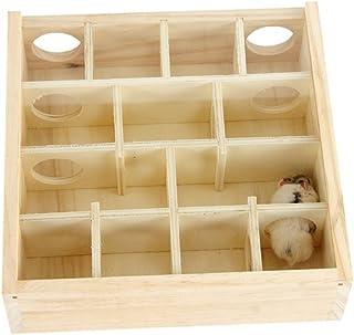 ハムスター専用 おもちゃ 玩具 木製 迷宮 遊具 ペット用品