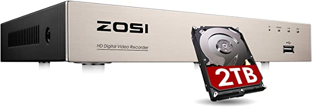 ZOSI H.265+ 8CH 4-in-1 5MP Lite Surveillance DVR Recorders Security System with 2TB Hard Drive for HD-TVI, CVI, CVBS, AHD ...