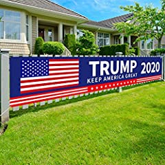 TRUMP 2020 KEEP AMERICA GREAT BANNER - Bright color President 2020 Banner Sign clearly express your love and support for GREAT President in the 2020 election. You MUST get this banner sign to show your support enthusiasm for Trump! HIGHT-QUALITY & RE...