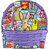 Purple Easter Basket for Kids and Adults (40ct) - Already Filled Easter Gift Basket with Plush Easter Bunny, Candy, Snacks, and Toys - Boys, Girls, Grandchildren, Young Children, Toddlers, Men, Women by Accardi Products LLC