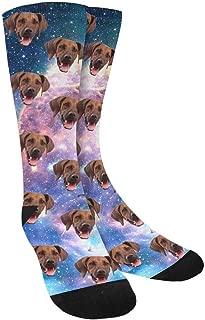 Custom Socks Print Your Photo Pet Dog Face Personalized Crew Socks for Men Women