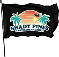 JXXO Shady Pines Retirement Home Flag,Outdoor Garden decorates Grommzets Tough Durable Fade Resistant for All Weather Outdoor