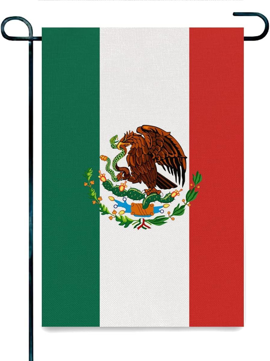 DISGOWONG Mexico Flag Summer Garden Flag for Summer - Summer Vibe Yard Flag Double Sided Beach Decorative Summer Garden Flag, 12×18 inch