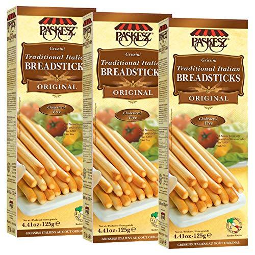 Grissini Breadsticks, Original - All Natural Traditional Italian Breadsticks, Non-GMO - 4.4 Ounce, 3 Pack