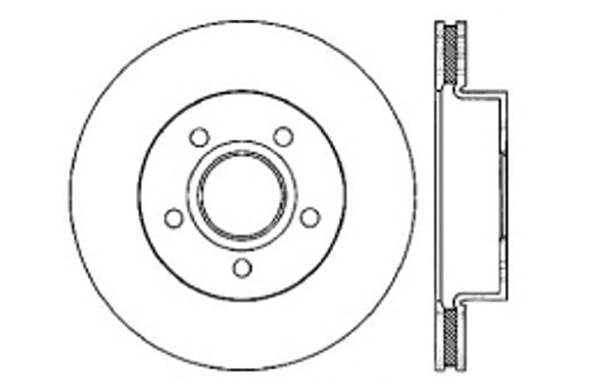 StopTech 127.67042R Sport Drilled/Slotted Brake Rotor Front Right