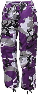 Rothco - Womens Paratrooper Colored Camo Fatigues - Violet Camo