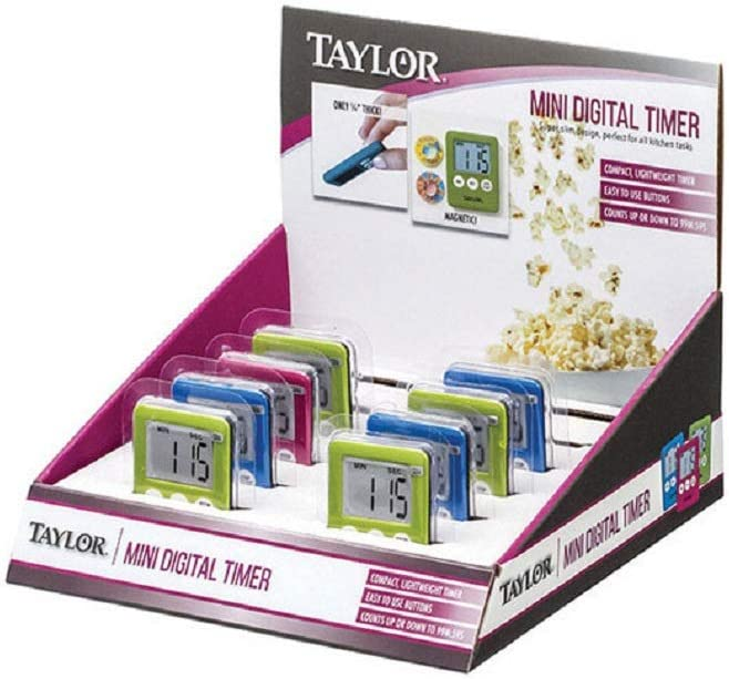 Taylor 58424n Mini Digital Free Shipping Cheap Bargain Gift Timer Color Assorted Plastic Pack low-pricing