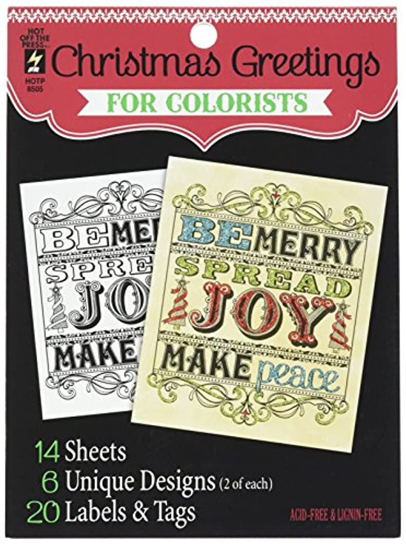 Hot Off The Press Christmas Greetings Colorist Coloring Book, 5