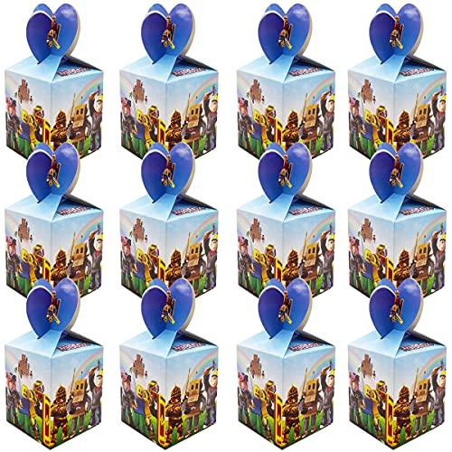 Miotlsy 24 Roblox scatole Regalo per bomboniere, per Matrimonio, Battesimo, in Cartone, Decorazione da Tavolo, Decorazione per Il Compleanno dei Neonato Bambini, Festa Battesimo