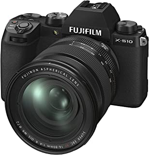 Fujifilm X-S10 Mirrorless Digital Camera XF16-80mm Lens Kit - Black, XS10